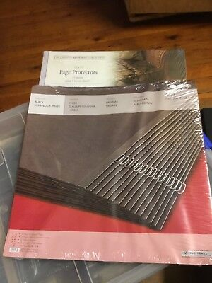 Creative Memories 12x12 Black Pages and Page Protectors