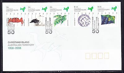 Christmas Island 2008 - 50th Anniversary First Day Cover APM