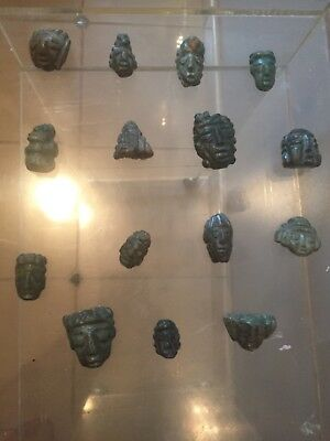 Pre-Colombian, 15 Mayan , Jade  Ancient Artifacts. A Unique Collection,.