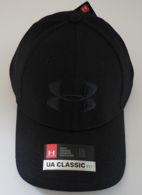 new concept d2f05 bf878 UNDER ARMOUR Men s Blitzing II Stretch Classic Fit Cap Hat Size L XL Black