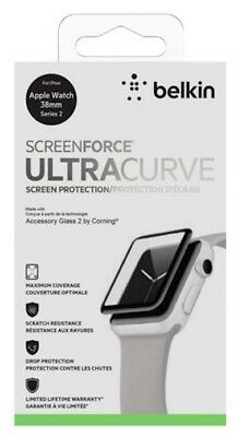NEW! Belkin ScreenForce UltraCurve Screen Protector 38mm Apple Watch Series 2 3