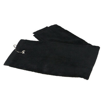 1Pcs Golf Towel Sports Towel Fitness Towel With Hook Black E6A7