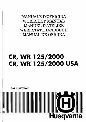 husqvarna workshop service manual 2000 wre 125 sm 125s 25 00 rh picclick com Husqvarna Viking Manual Online Husqvarna Chainsaw 455 Rancher Manual