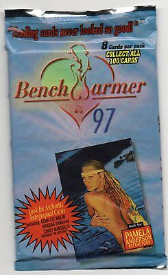 1997 Benchwarmer Sealed Pack 8 Cards per pack possible auto?