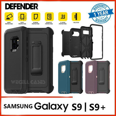 Galaxy S9 Plus Case | Screen Protector Belt Clip Fits Otterbox Defender Series