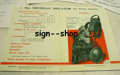 Michelin Man RARE 1920's Air Compressor Dealer - Vintage Booklet Brochure NICE!