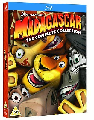 Madagascar 1-3 The Complete Collection Blu-Ray BRAND NEW Free Ship