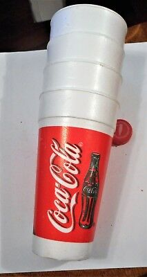 4 Vintage Coca Cola Coke Hot Or Cups sixteen ounce Polystyrene