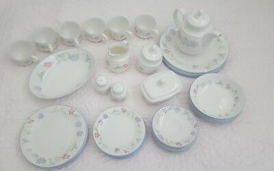 Vintage Royal Doulton Expressions SUMMER CARNIVAL 6 Person 36 Piece Dinner Set +