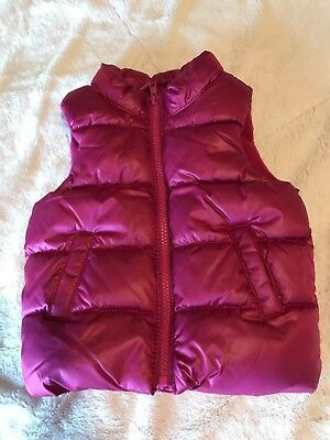Old Navy Toddler Girl Frost-Free Vest Fuchsia 12-18 mo