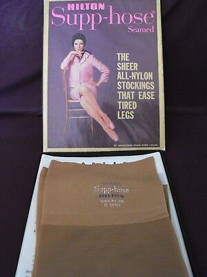 1960's Vintage Hilton Supp-hose Nylons with box