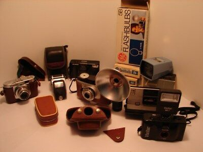 Various Film Cameras & Accessories 35mm and other Format, Lot...