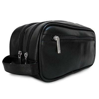 Mister Bag Leather Travel Toiletry Bag for Men or Women Waterproof. Travel Size