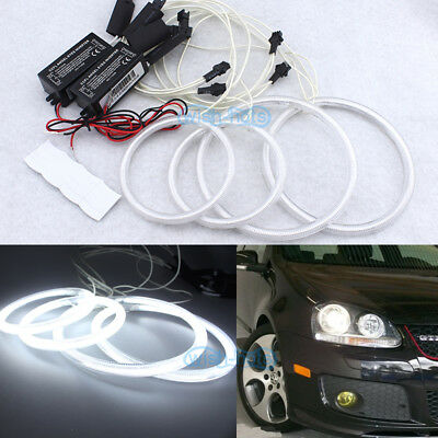COTTON RGB LED lights For VW golf Jetta MK5 GTI R32 03-08 Halo Rings