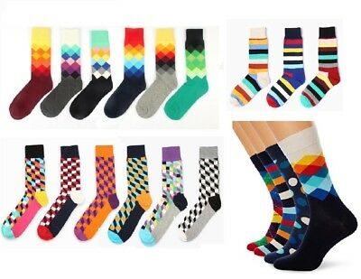 Mens Womens Happy Cotton Socks Stance Bux Suit Rainbow Stripe Party Costume Ball