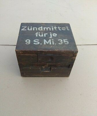 German WWII  Wooden box for S.Mi 35 accessories