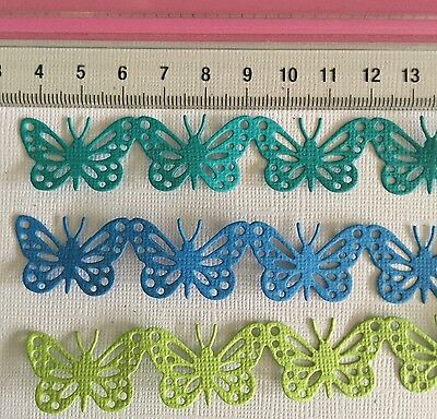 Die Cuts! 6 Pc 'Edith Border' Butterfly Butterflies Embellishment Coloured