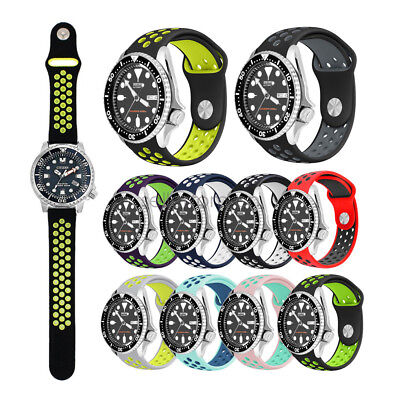 22mm Sports Replacement Silicone  Watch Band Strap for Seiko Diver Scuba SKX007
