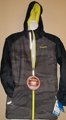 18//10 Columbia Boys Snowpocalyptic Jacket size XL Mountain Red//Black Hooded