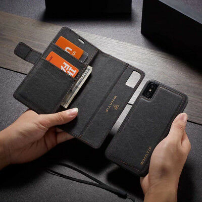 iPhone 11 Case Pro MAX iPhone 6 7 8 Plus Magnetic Leather Removable Wallet Cover