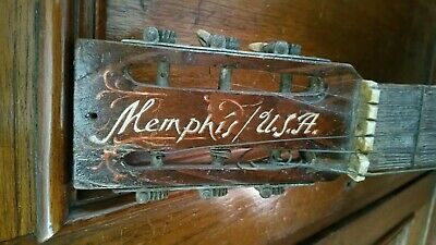 Memphis USA Old / Vintage Parlour Guitar with inlaid Bone . Needs TLC. 1920's?