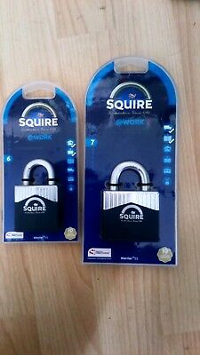 2x padlock squire warrior 55 and warrior 45