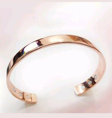 Magnetic Copper Bracelet Healing Therapy Pain Relief diet anti stress Bangle