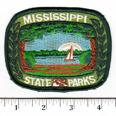 Mississsippi State Parks Embroidered Patch..Sailboat, Lake......#159t