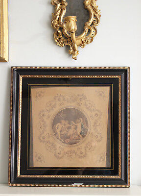 Beautiful c18th Hand Coloured Engraving No 2, FRANCESCO BARTOLOZZI, Putti