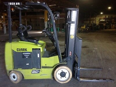 Clark ECX25 Electric Forklift Only 1612 Hours