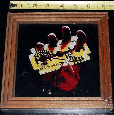 JUDAS PRIEST British Steel OFFICIAL CBS 1982 Carnival Mirror Framed Sealed