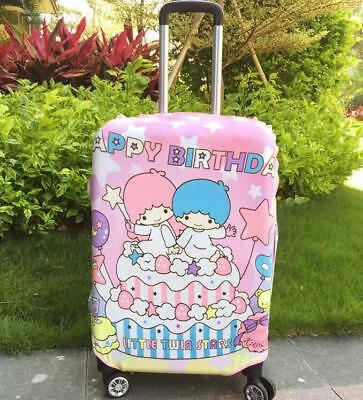 """Cute Little Twin Stars Luggage Protector Suitcase Cover Bags Dust-proof 24""""-26"""""""