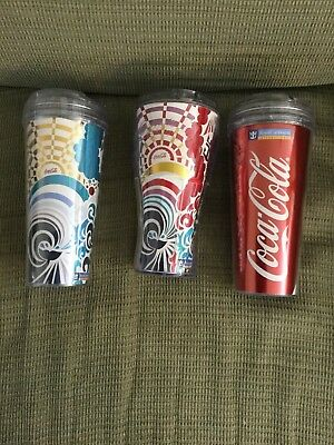 ROYAL CARIBBEAN Cruise COCA-COLA COKE Insulated Travel Cup Tumbler  NEW & USED