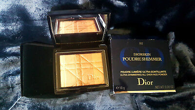DIOR Diorskin Ultra-Shimmering All Over Face Powder BNIB 002 Amber Diamond