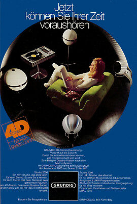 1970s Poster Grundig German for Surround 4D Stereo Systems 13 x 19 Giclee Print