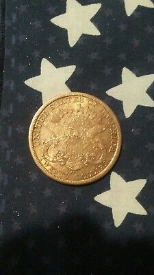 1877 20 dollar carson city gold piece
