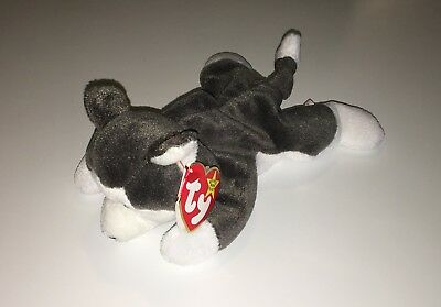 TY Beanie Babies Nanook The Husky NEW Plush Toy White & Gray Dog Collectible NWT