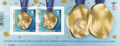 Canada 2010 Olympic Gold Medal Souvenir Sheet, #2371 Used
