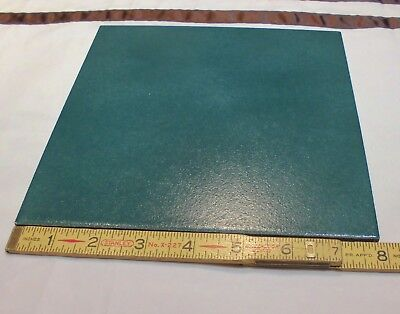 "1 pc.  *Emerald-Green Gables* Ceramic / Porcelain Floor Tile  8"" X 8""  textured"