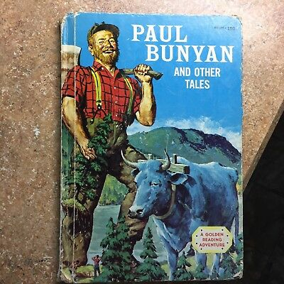 Paul Bunyan and Other Tales 1958 Book by Irwin Shapiro Golden Press 1st Edition