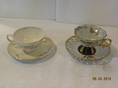 Vintage Royal Sealy China Tea Cup and Homer Laughlin Georgian Tea Cup