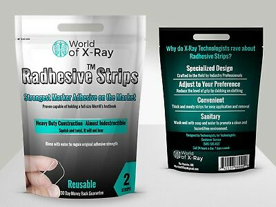 6 RADHESIVE STRIPS - Washable Reusable Clinical Adhesive