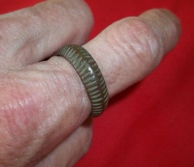 Lot: 1 Bronze Roman Medieval Rings. Ancient Artifacts
