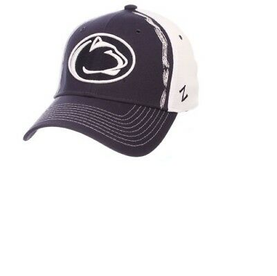 9a66145bad3497 PENN STATE NITTANY Lions NCAA Size M/L Fitted Hat Cap Zephyr ...