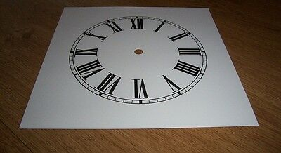"Ogee Paper Clock Dial- 8"" M/T - Roman -  White Matt - Face/ Clock Parts"