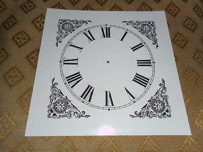 "Mantle/ Shelf Paper Clock Dial - 5"" M/T- Roman- Corner Designs- Face/Clock Parts"