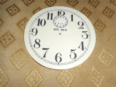 Round 'Big Ben' Paper Clock Dial - 103mm M/T - Roman - Cream - Face/Clock Parts