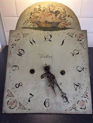 Antique 30 Hour Longcase Clock Movement And Dial