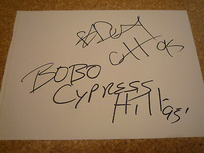 CYPRESS HILL - B-REAL & BOBO SIGNED / SIGNIERT (MTV's MOST WANTED, Beastie Boys)