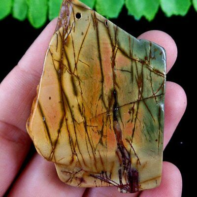 D7.10202 Freefrom Natural Picasso Jasper Pendant Bead 56*40*7mm